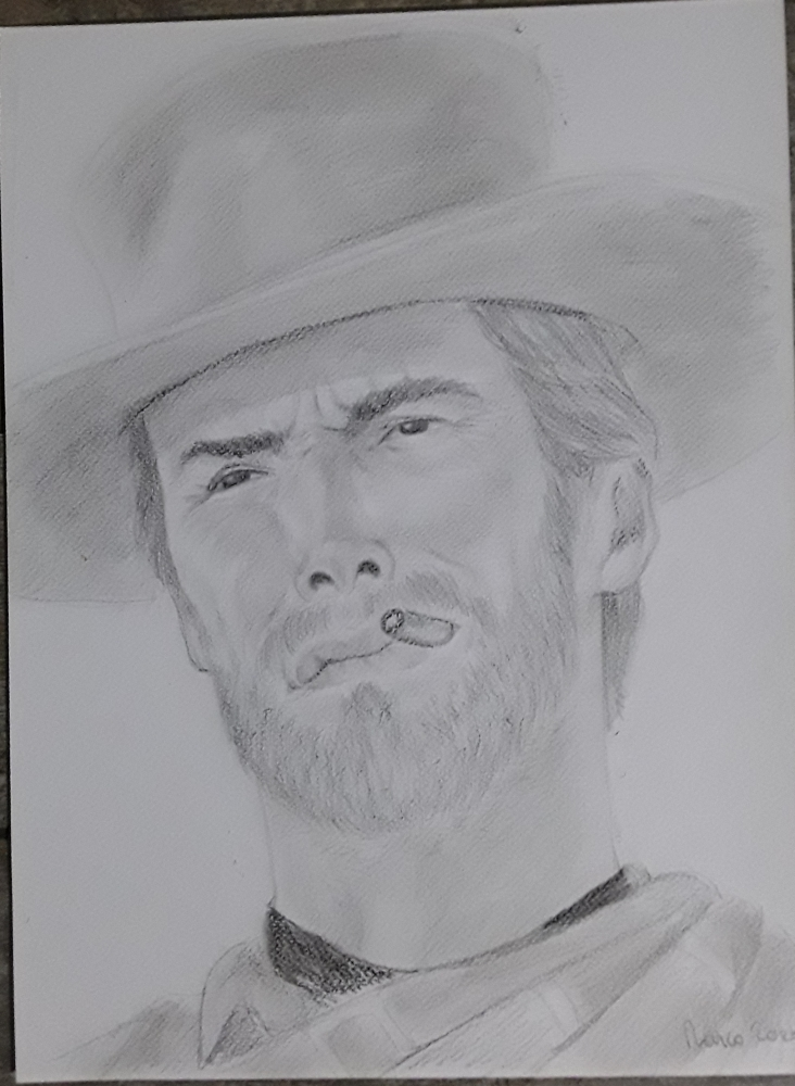 Clint Eastwood by Papero